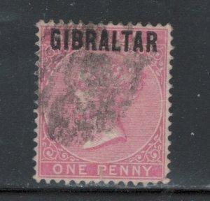 Gibraltar 1886 Queen Victoria 1p Scott # 2 U