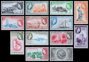 Barbados Scott 235-247 (1953-57) Mint VLH VF Complete Set W