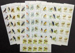 EDW1949SELL : MALAWI 1988 Scott #518-33 Birds. 10 Cplt sets. VF MNH Catalog $394