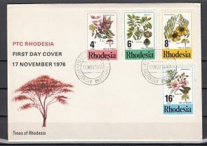 Rhodesia, Scott cat. 371-374. Trees of Rhodesia issue. First day cover.