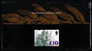 G.B.QE II 1993 £10 HIGH VALUE DEFINITIVE MINT (NH) SG1658 P.O. PACK 28 SUPERB