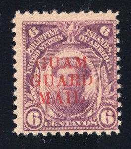 Guam# M9 - 6 Cents, Deep Violet - Guam Guard Mail - Unused - No Gum