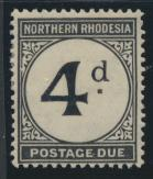 Northern Rhodesia  SG D4 SC# J4 MH Postage Due 1929 - see details