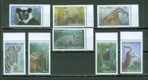 GAMBIA 2000 WILDLIFE #2184-91 SET CORNERS STAMPS MNH...$4.00