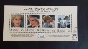 Cayman Islands 1998 Diana, Princess of Wales Commemoration  Mint