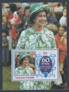 Queen Elisabeth II 60th Birthday - Souvenir Sheet of 1 stamp