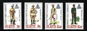St. Kitts-Scott#414-17- id7-Unused NH set-Defense Force-1996-