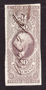 US R52a 30c Inland Exchange Used VF SCV $72.50