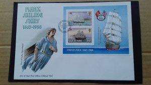 Isle of Man 1988 Sailboats FDC