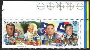 Chile. 1999. 1921-22. Chilean unions. MNH.