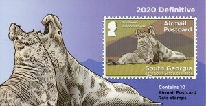 South Georgia & Sandwich Is Definitives Stamps 2020 MNH Seals 10v S/A Booklet