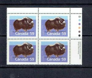 CANADA - 1989 MUSK OX - SLATER PAPER - PERF 13.1 - URPB - SCOTT 1174a - MNH