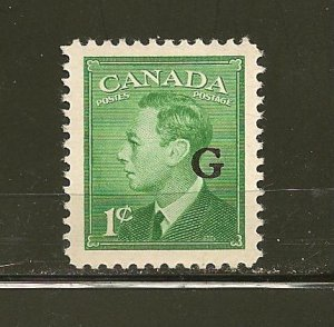 Canada O16 King George VI G Official MNH