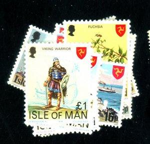 ISLE OF MAN 113-29 MINT FVF OG NH Cat $13