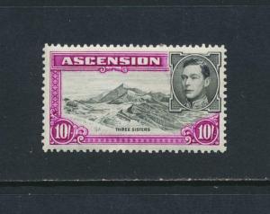 ASCENSION 1938, 10sh P13½. VF MLH SG#47 CAT£110 $143 (SEE BELOW)