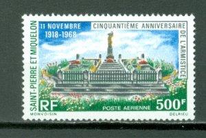 ST.PIERRE & MIQUELON  WAR MEMORIAL #C39...MNH...$27.50