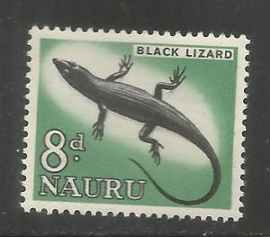 NAURU, 52, MNH, BLACK LIZARD