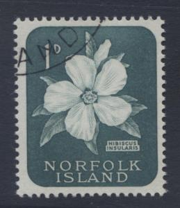 Norfolk Is - Scott 29 - Definitives -1960 - CTO - Single 1d Stamp1