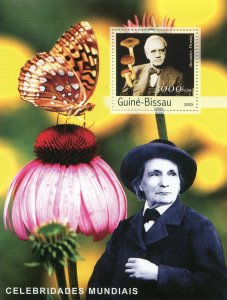 Guinea-Bissau MNH S/S Butterfly & Flower 2003