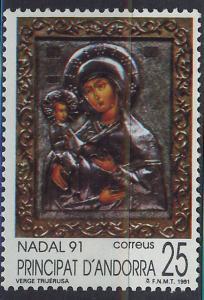 ANDORRA SPANISH 1991 MNH SC.215 Christmas