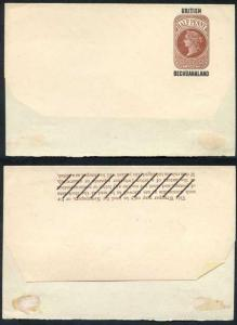 British Bechuanaland O/P on QV 1/2d Brown Newspaper Wrapper Mint