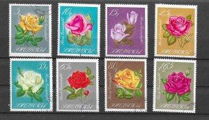 Albania Used 1027-34 Roses Flowers