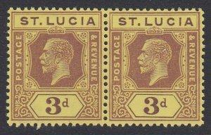 ST. LUCIA, Scott 84, MNH pair