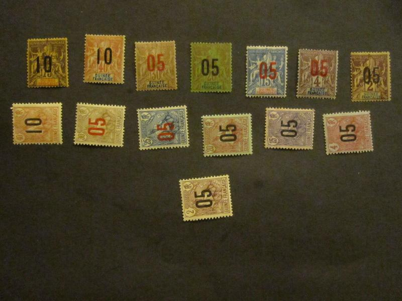 French Guinee #48-61 Mint Hinged - WDWPhilatelic