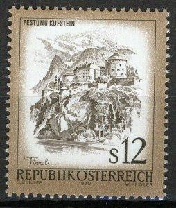 Austria 1980, 12Sh Beautiful Austria VF MNH, Mi 1654 3€