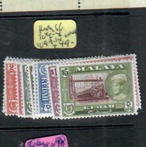 MALAYA  KEDAH   (P1606B)  SG 104-8, 109A-114        MNH