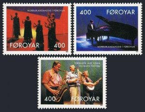 Faroe 247-249,249a,MNH.Michel 243-245,Bl.6. Nordic House Entertainers,1993,Dance