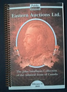 Auction Catalog JOHN SMALLMAN ADMIRAL ISSUE of CANADA King George V Specialised