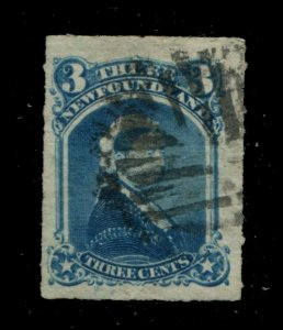 Newfoundland #39 SG 42 U F/VF 3c 1876-1879 Is. [N4040] CV=$15.00