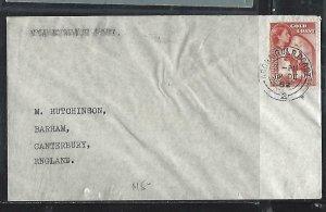 GOLD COAST (P2708B)  1952   QEII  3D ACCRA TO ENGLAND