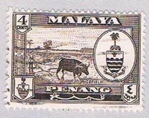 Malaya Penang 58 Used State Crest (BP23126)