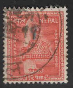 Nepal  Scott 94 Used stamp 1957