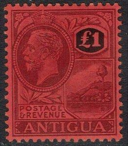 ANTIGUA 1921 KGV BADGE 1 POUND