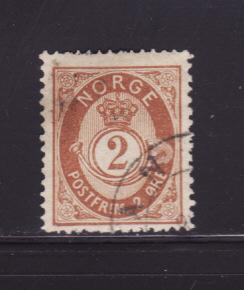 Norway 37 U Post Horn and Crown