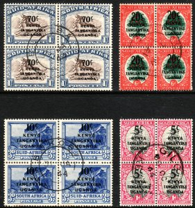 1941-42 KUT SA O/P two complete sets in block form Used Sc# 86 / 89 CV 47.50