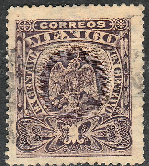 MEXICO 304 1cent EAGLE COAT OF ARMS. USED. (201)