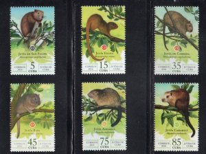 CUBA Sc# 5806-5811  RODENTS rats mice CPL SET of 6 stamps 2016  MNH mint