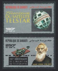 Djibouti Space Bell Telstar Telecommunications Anniversaries 2v SG#1009-1010