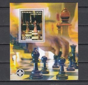 Benin, 2007 Cinderella issue. Chess s/sheet. Scout logo..