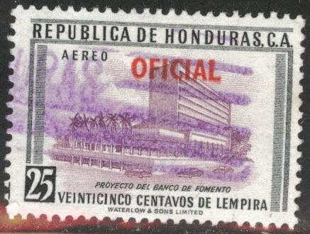Honduras  Scott Co80 Used official airmail