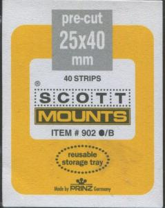 Scott/Prinz US Standard Comm. Horizontal Stamp Mounts Size: 40x25 Clear #901 C