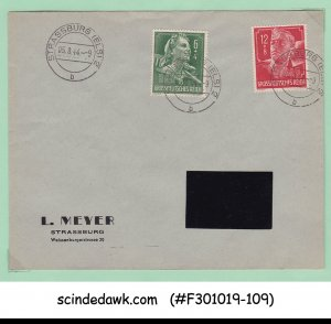 GERMANY - 1944 ENVELOPE WITH 2-STAMPS - USED