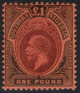 SOUTHERN NIGERIA 1912 KGV 1 POUND MNH **