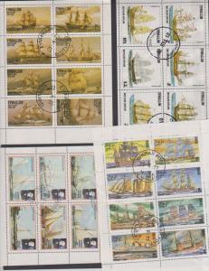 TtHEMATIC COLLECTION ON SHIPS USED STAMPS   LOT#499