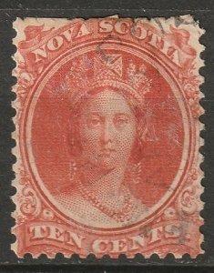Nova Scotia 1860 Sc 12a used