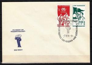 German Dem. Rep. Scott cat. B41-B42. Young Pioneers issue. First day cover.